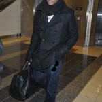 Usher arrives in Washington DC for the 'Christmas in Washington' concert